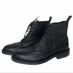 Mr. B's for Aldo brogue boot black leather lace-up